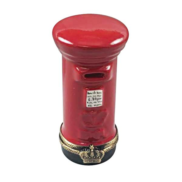 RED ENGLISH POST BOX LIMOGES BOXES BOUTIQUE