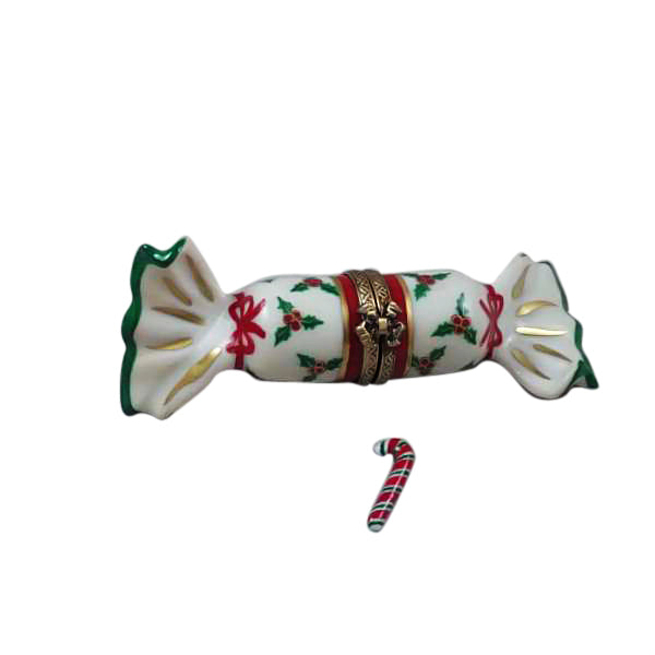 Christmas Candy w Cane Limoges Boxes - Limoges Boxes Boutique