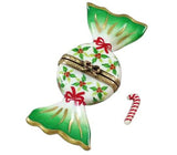 Sweet Christmas Holly Candy W Cane Limoges Boxes