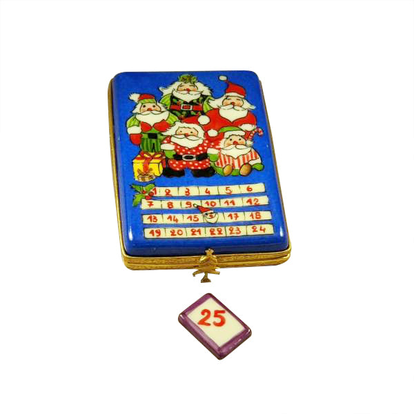 Advent Merry Christmas Calendar W Santa Limoges Box