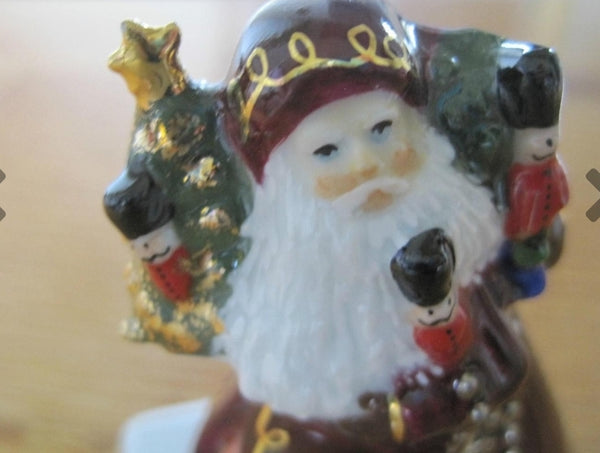 Lynn Haney Santa Toy Soldier Limoges Box