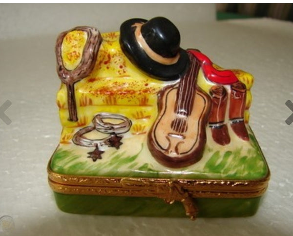 Cowboy Accessories Limoges Box