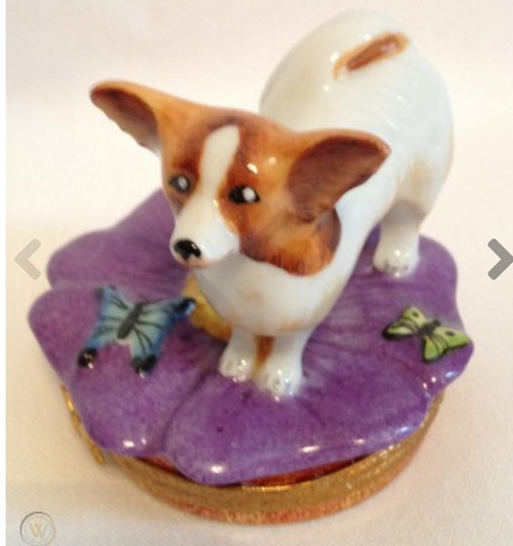 Papillon Dog Limoges Box