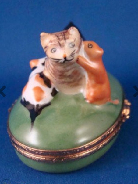Kittens With Mother Cat Limoges Box