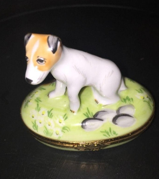 Jack Russell Terrier Dog Artoria Limoges Box