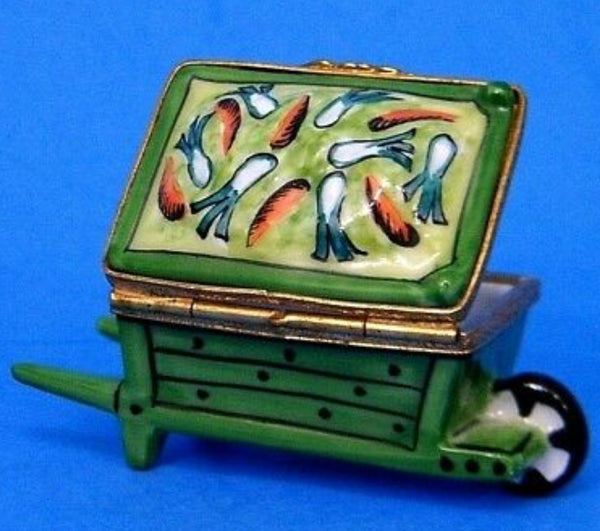 Wheel Barrow: Vegetable Limoges Box