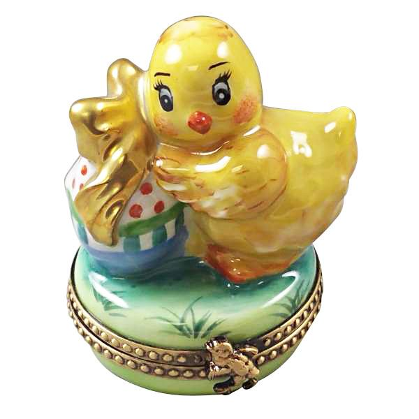 EASTER CHICK WITH EGG LIMOGES BOXES - Limoges Boxes Porcelain Figurines