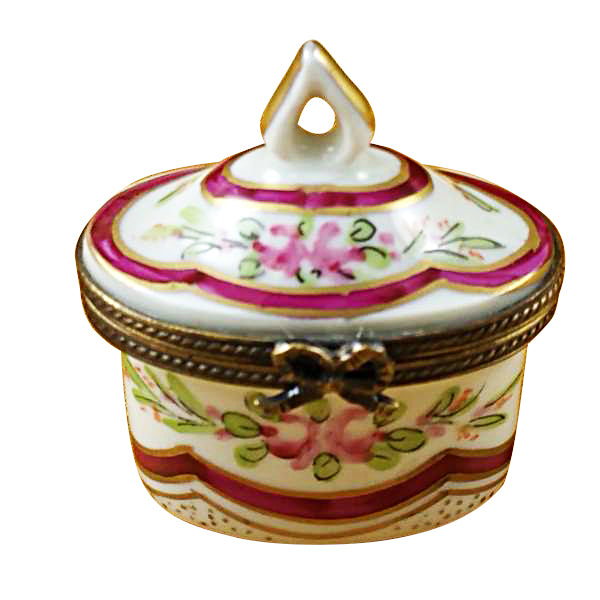 RED BOX TOP LIMOGES BOXES - Limoges Boxes Porcelain Figurines