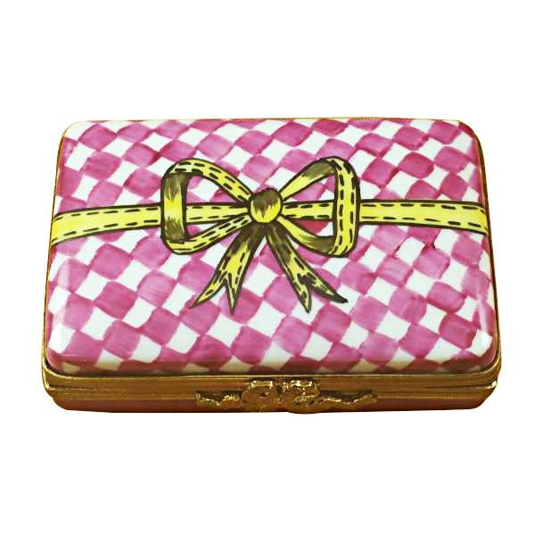 PINK/WHITE GIFT BOX WITH CHOCOLATES LIMOGES BOXES BOUTIQUE