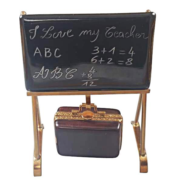TEACHER'S BLACKBOARD LIMOGES BOXES BOUTIQUE