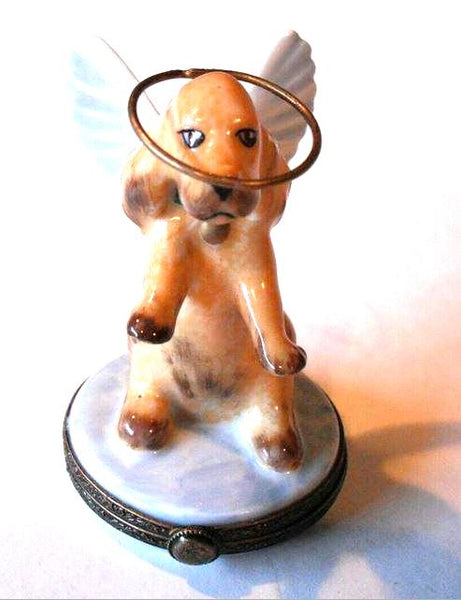 Angelic Dog Angel Authentic Limoges