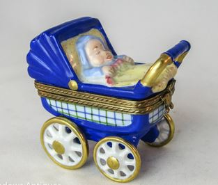 Baby Carriage Blue - RARE RETIRED - 3 Extra Days to Ship