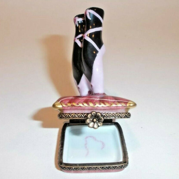 Ballet Shoes Balerina Dance Limoges Box - This will take 3 xtra Days to Ship