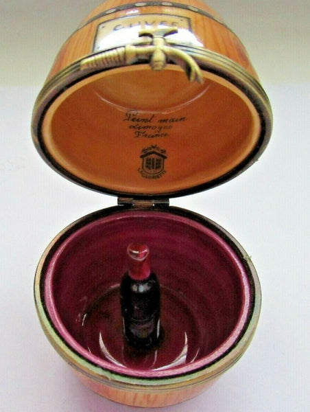 Cuvee 2000 Wine Barrel Limoges Box - This will take 3 extra days to ship out