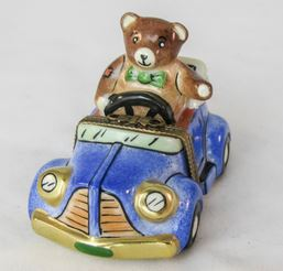 Bear in Car - RARE RETIRED - 3 Extra Days to Ship