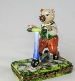 Bear on Scooter - RARE RETIRED - 3 Extra Days to Ship