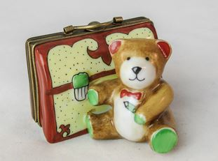 Teddy Bear w Suitcase - RARE RETIRED - 3 Extra Days to Ship