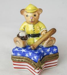 USA Teddy Bear Baseball Star - RARE RETIRED - 3 Extra Days to Ship
