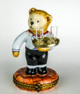 Teddy Bear Waiter - RARE RETIRED - 3 Extra Days to Ship