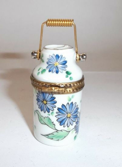 Milk Jug Blue Flowers Limoges Box - This will take 3 xtra Days to Ship