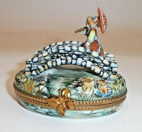 Woman on Bridge Limoges Box - This will take 3 xtra Days to Ship