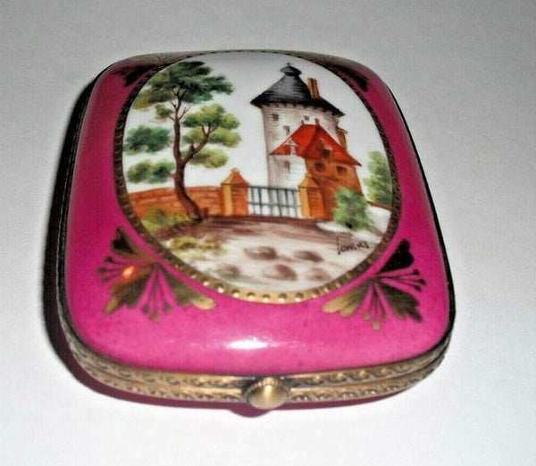 Castle on Flat Rectangle Limoges Box