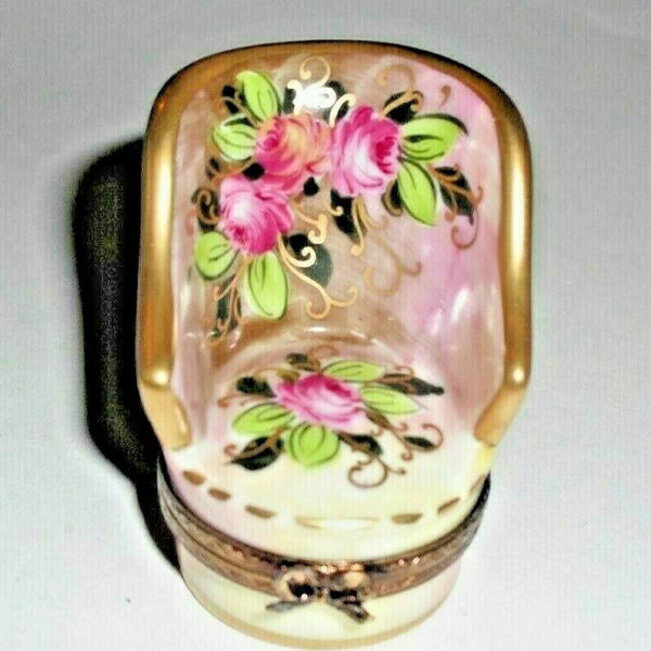 Chair Rose Rosard Motif Limoges Box - This will take 3 extra days to ship out