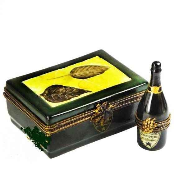 Champagne Bottle in Case Limoges Box