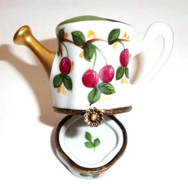 Watering Can Garden w Cherries Limoges Box