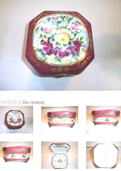 Jewelry Chest Limoges Box - 5 x 5  x 2