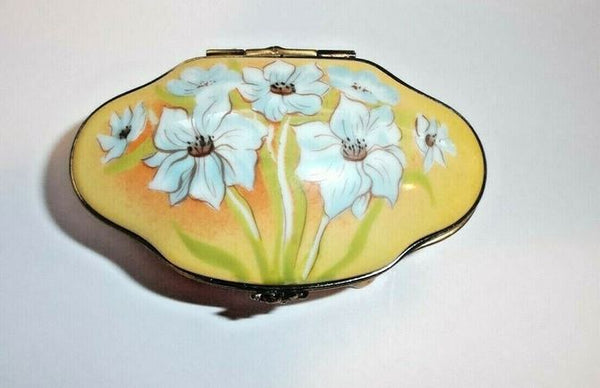 Monet Like Flowers on Traditional Limoges Box - This will take 3 xtra Days to Ship