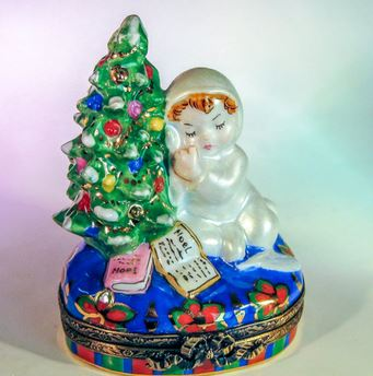 Baby w Christmas Tree - EXTREMELY RARE RETIRED - 3 Extra Days to Ship