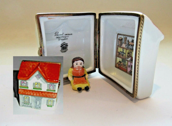 Doll in Doll House Toys Limoges Box - - La Gloriette
