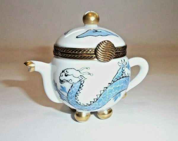 Dragon Teapot China French France Limoges Box  - This will take 3 xtra Days to Ship