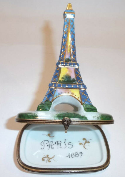 Commemorate 1889 Eiffel Tower Limoges Box - La Gloriette