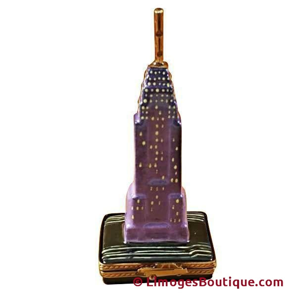 EMPIRE STATE BUILDING BY NIGHT-Limoges Imports Limoges Boxes-Limoges Imports united-Limoges Box Boutique