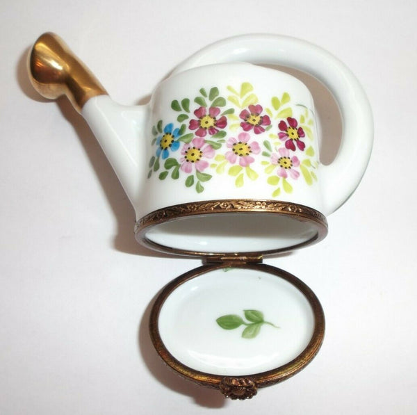 Watering Can w Flowers Limoges Box