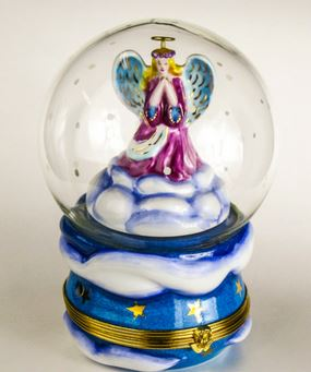 Snow Globe Angel Music Box - RARE RETIRED - 3 Extra Days to Ship