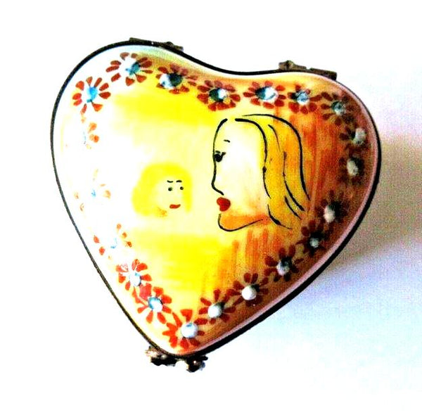 Caroline Heart Yellow Limited Edition Collection- Limoges Box