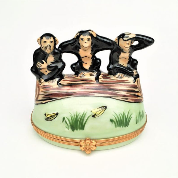 Three Monkeys Mystical Limoges Box