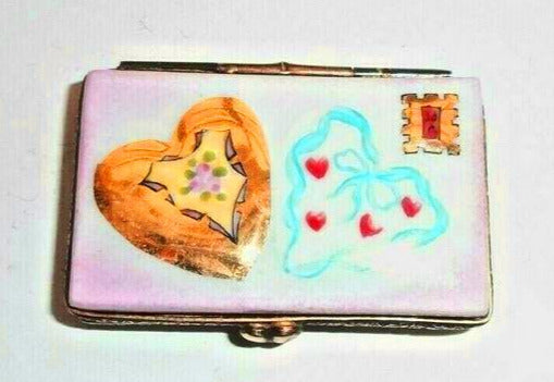 Love Letter I Love You - Sealed with a Kiss Lips Limoges Box