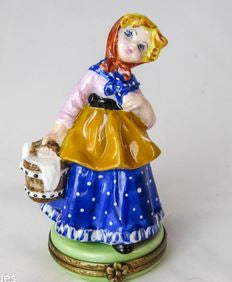 Girl w Milk Bucket - RARE RETIRED - 3 Extra Days to Ship