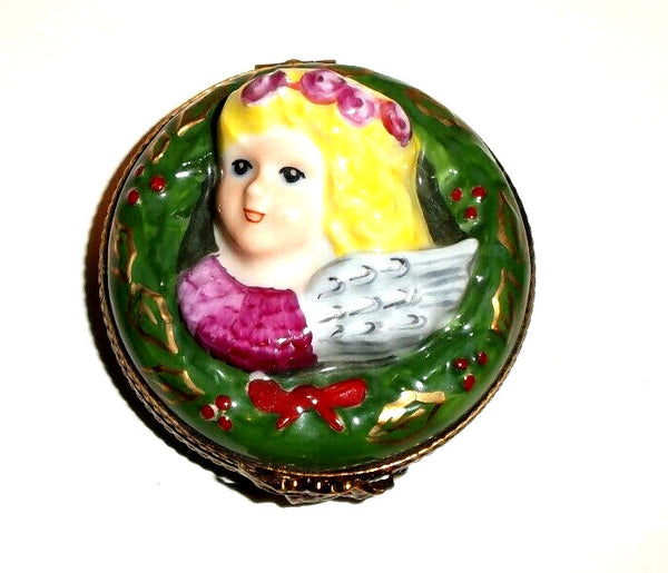Christmas Angel Wreath Limoges Box