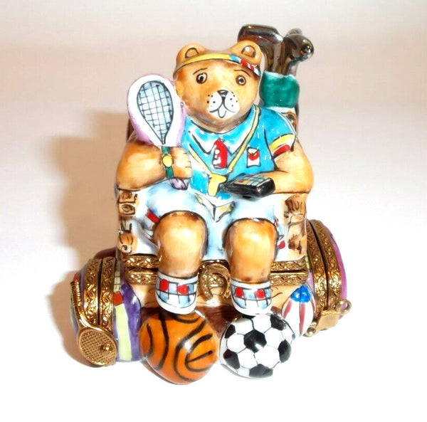 Sports Nut Bear Limoges Box