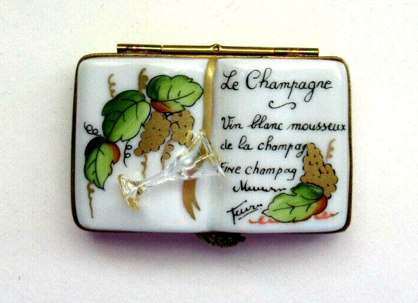 Book on Champagne Wine Limoges Box