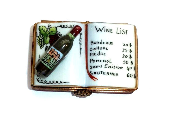 Book on Wine Lists Limoges Box