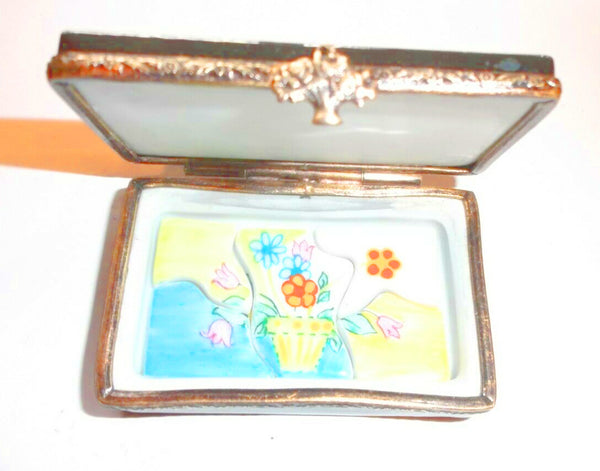 Flower Pot Puzzle Limoges Box