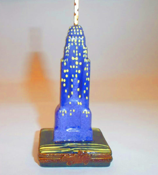 Empire State Building By Night New York Limoges Box