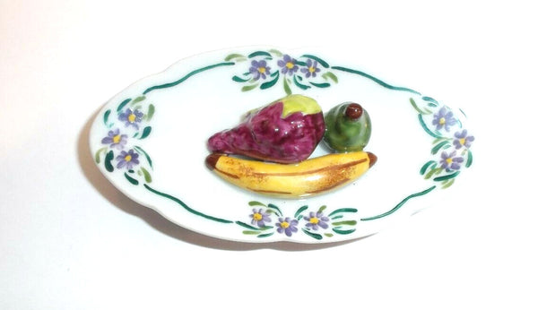 3 Pieces Fruit on Plate Limoges Box