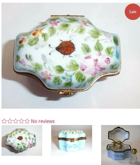 Perfume Lady Bug Flowers Box
